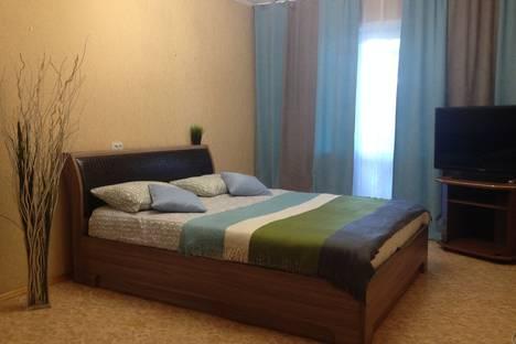 Сдается 2-комнатная квартира посуточно в Барнауле, проспект Красноармейский, 106.
