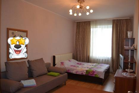 Сдается 1-комнатная квартира посуточно в Перми, шоссе Космонавтов 118.