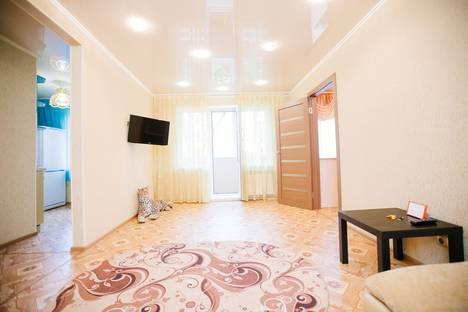 Сдается 2-комнатная квартира посуточно в Барнауле, проспект Красноармейский, 118.