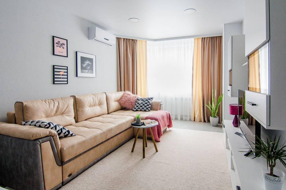 Два дивана в однокомнатной квартире фото многократном прочтении