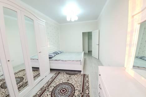 Сдается 2-комнатная квартира посуточно, ул Рыскулова 79Б.